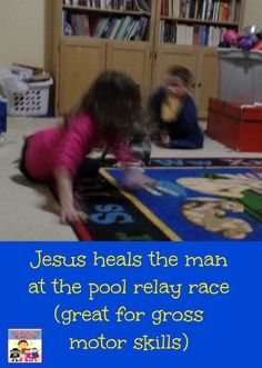 Jesus heals the man at the pool race