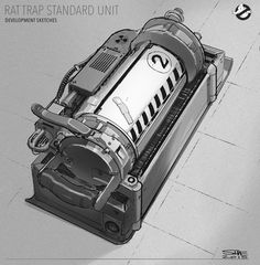 something closer to where we finally landed for the Rat traps on Ghostbusters. I had a lot of fun working on these objects.