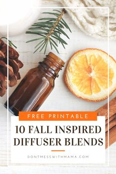 10 Fall Essential Oil Diffuser Recipes - check out these easy fall scents you can diffuse at home to replace scented candles and air fresheners - get my free printable of all 10 fall essential oil diffuser recipes - DontMesswithMama.com