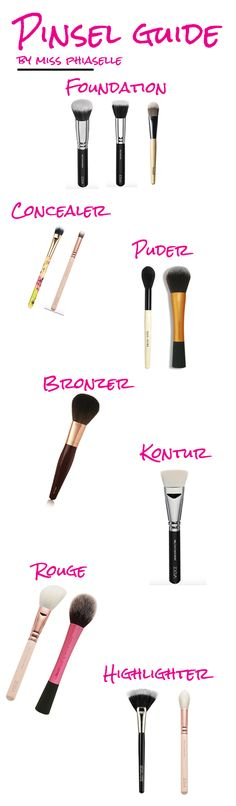 .What brush for which step? In our PINSEL-GUIDE we will clear up! A guide through the jungle of makeup brushes...