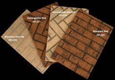 HFL310 Fireplace Brick Liner, Herringbone Brick Pattern AGED ALMOND | MonsterMarketplace.com