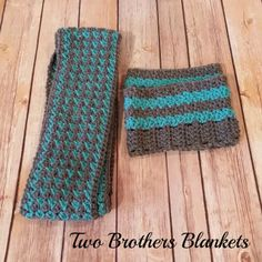 Two Brothers Blankets: Free Pattern! Simple Textured Infinity Scarf and Boot Cuffs!