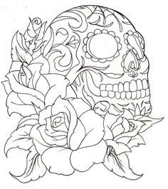 flower with skull