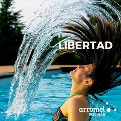 Es increíble la sensación de tener una piscina #arromel. Una verdadera sensación de libertad. 😁