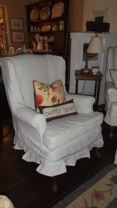 Wing Chair Slipcover Clearance | Wing Chair Slipcover | Pinterest | Chair  Slipcovers And Wingback Chairs