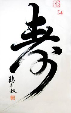 """Chinese calligraphy """"age"""" of ~ on deviantART - Chinese Typography Beautiful Calligraphy, Japanese Calligraphy, Calligraphy Letters, Calligraphy Tattoo, Chinese Brush, Chinese Art, Letras Tattoo, Tinta China, Chinese Typography"""