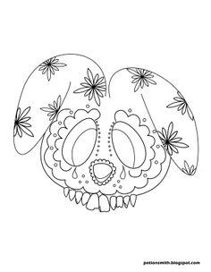 Squeee!  Bunny sugar skull! POTIONSMITH: Sugar Skull Bunnies http://potionsmith.blogspot.com/2013/03/sugar-skull-bunnies.html