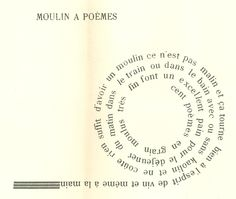 Pierre Albert-Birot, 'Moulin à poèmes', in: Deux poèmes (1955)