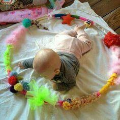 Tummy time hula hoop