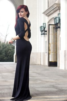 Discover this look wearing Black Sheinside Dresses tagged mermaid - Mermaid by Chaba styled for Elegant, Dinner Party in the Winter Wearing Black, Mermaid, Style Inspiration, Formal Dresses, Elegant, Chic, Model, How To Wear, Outfits
