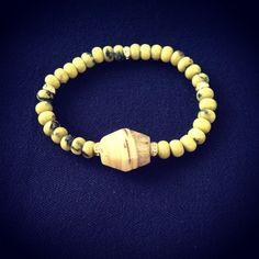J. Marano- african yellow turquoise bracelet