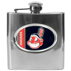 BSS - Cleveland Indians MLB 6oz Stainless Steel Flask . $48.06. BSS - Cleveland Indians MLB 6oz Stainless Steel Flask This Officially Licensed flask is decorated in the team colors and proudly displays hand-crafted metal emblem featuring the Team Logo. Availability: Usually ships within 7-10 business days.