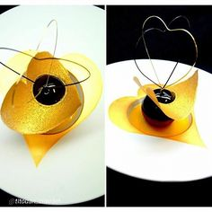 """""""Lime meringue sorbet and confit tart with passion creamy and light chocolate mousse Heart of Guanaja."""" 
