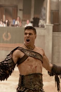 Manu Bennett as Crixus in Spartacus