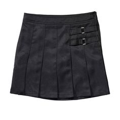 Girls 4-20 & Plus Size French Toast School Uniform 2-Buckle Solid Skort, Girl's, Size: 18 Plus, Black