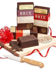 Brix Chocolate Gift Set. Dark Chocolate. Entertaining. Dessert. Chocolate for Wine.