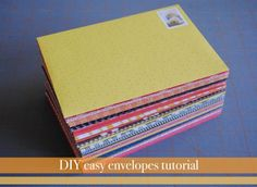 Easy diy envelopes tutorial and template.