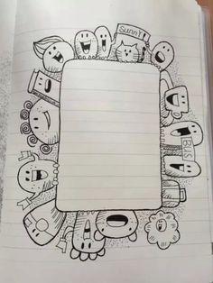 Bullet Journal Ideas (Unique and Simple) - Legend Flowers Cute Doodle Art, Doodle Art Designs, Doodle Art Drawing, Doodle Art Letters, Paper Drawing, Drawing Tips, Drawing Ideas, Kawaii Doodles, Cute Doodles