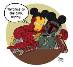 Iron Man welcomes Boba.