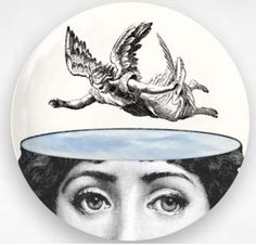 angel original Cavalieri design on vintage dictionary by FauxKiss Service Assiette, Piero Fornasetti, Fornasetti Wallpaper, Great Wedding Gifts, Flying Pig, Grafik Design, Plates, The Originals, Stencil