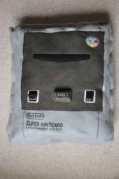 Super Nintendo Console Cushion Super Nintendo Console, Geek Cave, Nintendo Systems, Vintage Games, Cool Gadgets, Softies, Nintendo Consoles, Game Room, Computers