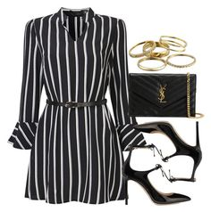 """""""Sin título #12933"""" by vany-alvarado ❤ liked on Polyvore featuring Jimmy Choo, Yves Saint Laurent and Kendra Scott"""
