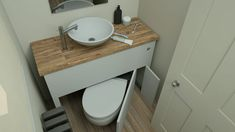 Nothing like a peekaboo toilet to take my day from good to great! And the Hidealoo retractable hidden toilet isn't just out to steal my heart, it's out to save me space and - even better! Man Bathroom, Small Bathroom Sinks, Tiny House Bathroom, Bathroom Closet, Bathroom Layout, Bathroom Designs, Hidden Toilet, Space Saving Bathroom, Space Saving Toilet