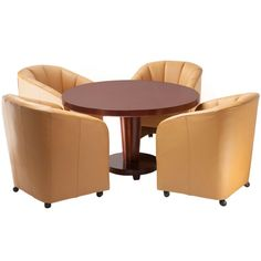 Baker Furniture Co. Game Table And Chairs, Club Chairs, Dining Room Table, Dining Chairs, Dining Area, Dining Rooms, Tables, Baker Furniture, Table Furniture