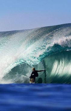 Surfing big barrels... i WOULD LOVE ONE LIKE THIS .....