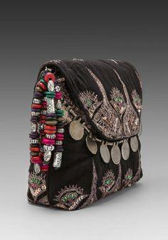 ANTIK BATIK Saro Pouch in Black - Antik Batik