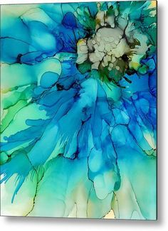 Alcohol ink tiles · blue magnificence shower curtain for sale by louise adams water color abstract, abstract painting watercolor Alcohol Ink Tiles, Alcohol Ink Crafts, Alcohol Ink Painting, Rubbing Alcohol, Abstract Watercolor, Watercolor Flowers, Watercolor Paintings, Watercolors, Ink Paintings