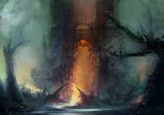 The Underworld. Hades and mythology, illustration. Life Is What Happens, Percy Jackson Art, Fantasy Places, Fantasy Art, Hades, Story Inspiration, Underworld, Natural Disasters, Ancient History