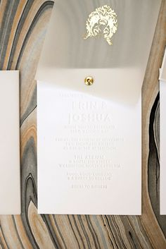 Twist rotating wedding invitation suite, gold foil logo on vellum cover, blind emboss, blind deboss wedding invite, tear off RSVP card, marble back detail, vellum envelope and address wrap, Custom designed wedding invite, Wouldn't it be Lovely