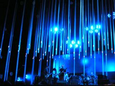 """RADIOHEAD.  This is from their """"In Rainbows"""" tour.  I have seen them live 5 times and they are prob my favorite band live.  Visually, even if you hate the band, you'll appreciate the amazing light show they provide.  I'd say their """"Amnesiac"""" tour was my favorite show."""