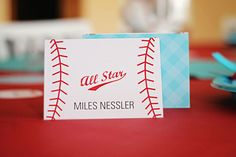 Season Opener: Baseball Party Ideas. Kids thank you card from @Pear Tree Greetings