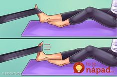 Here are six exercises to get rid of knee and foot pain forever - Tips and Tricks - Tips and Crafts Hip Pain, Foot Pain, Knee Pain, Back Pain, Body Joints, Knee Exercises, Sore Feet, Thigh Muscles, Leiden