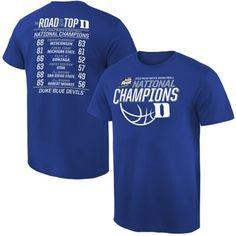 Duke Blue Devils 2015 NCAA Men's Basketball National Champions All Score T-Shirt - Duke Blue
