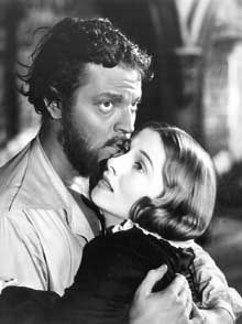 Orson Welles and Joan Fontaine in Jane Eyre,1944