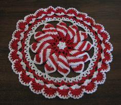Pinwheel Doily in XMAS colours