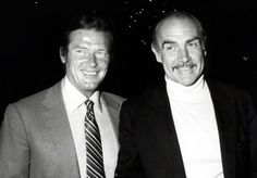 Roger Moore and Sean Connery
