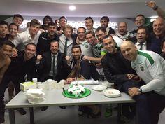 Parabéns Paulinho 47 aninhos  e parabéns equipa por mais uma vitória. #estamosjuntos #SCP #naodesistimos