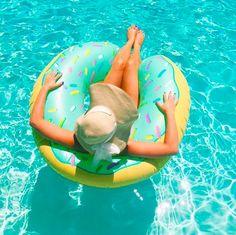BigMouth Inc Mint donut pool float IRL