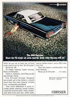 Chrysler 300 V8 Hardtop 1966 Bloomfield - www.MadMenArt.com | Vintage Cars…