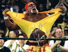 Hulk Hogan Signed Photo from Powers Autographs Wwe Hulk Hogan, Vince Mcmahon, Wwe Wallpapers, Wrestling Superstars, Nursing Memes, Professional Wrestling, Memories, Actors, Authenticity