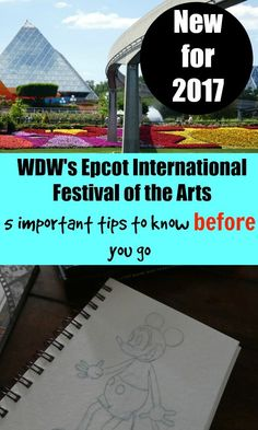 Making plans to hit the new Epcot Festival of the Arts? Here's five important tips to know before you go - especially if you have kids!