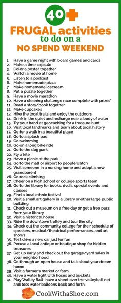 Looking for fun and frugal things to do with little or no money? Looking for fun and frugal things to do with little to no money? You will love all these ideas! Cheap Things To Do, Things To Do When Bored, Couples Things To Do, Things To Do At Home, Couple Things, Free Things, Stuff To Do, Weekend Activities, Activities To Do