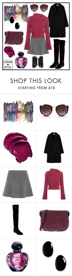"""Amsterdam Colors"" by lecrindustyle ❤ liked on Polyvore featuring Rebecca Taylor, 10 Crosby Derek Lam, Jimmy Choo, Little Liffner, Christian Dior, Sophie Buhai and Alexander McQueen"