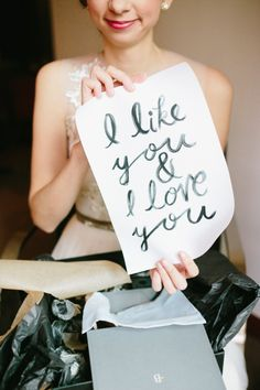 Like & Love You: http://www.stylemepretty.com/2014/07/29/10-ways-to-use-quotes-in-your-wedding/