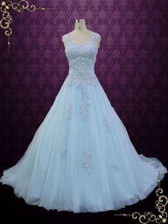 Blue Cinderella Style Ball Gown Wedding Dress | Seattle