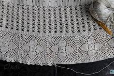 Этап 3   Схемы основного полотна юбки, расчет кокетки Мотивы вязала крючком № 1,5 (достаточно плотно) что бы меньше деформи...